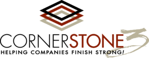 Cornerstone3 logo and tagline